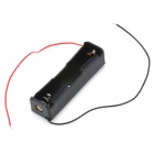 3.7V 1*18650 Battery Holder Case Box with Leads - Black