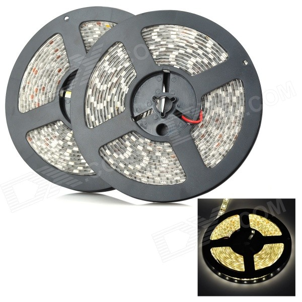 144W 8400lm Warm White 600-LED Waterproof Flexible Light Strip (10m)