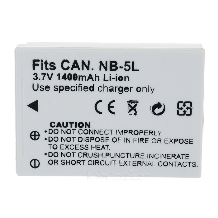 """1200mAh"" NB-5L Battery for Canon NB-5L NB5L Powershot S100 SX200 SX210 IS SX230 HS SD890"
