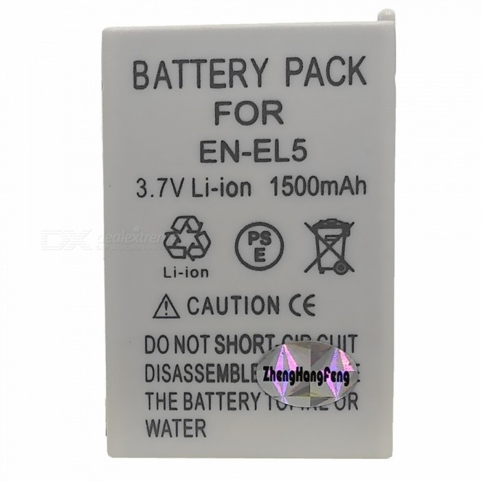 """1500mAh"" EN-EL5 Battery for Nikon Coolpix P90 P100 P5100 P6000 S10"