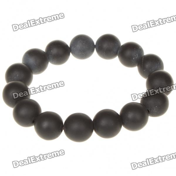 Natural Stone Needle Anti-radiation Healthy Bracelet for Male - BlackBracelets<br>Form  ColorBlackMaterial:GenderMenPacking List<br>