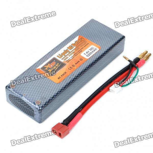 Replacement 7.4V 30C 5200mAh Li-Poly Battery Pack for Car Model Toy