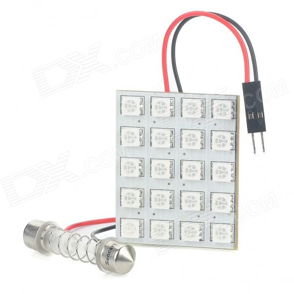 3.6W 20-SMD 5050 LED 240LM 465-470nm Blue Light Emitter for Car