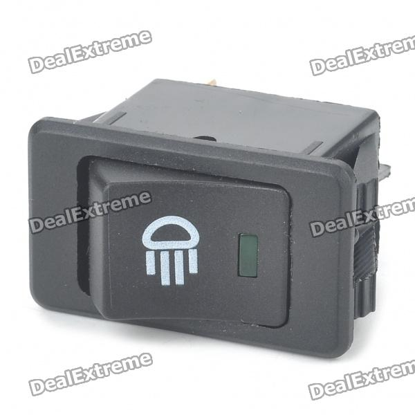 Car Fog Light Switch w/ Green LED Indicator (DC 12V)