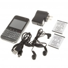 "F605 2.4"" Android Touch Screen Dual SIM Quadband GSM Cell Phone w/ WiFi and GPS - Black"