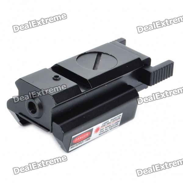Adjustable Universal Red Laser Gun Aiming Sight - Black