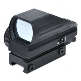 Tactical-4-Reticle-GreenRed-Dot-Sight-Rifle-Scope-Gun-Mount-Black