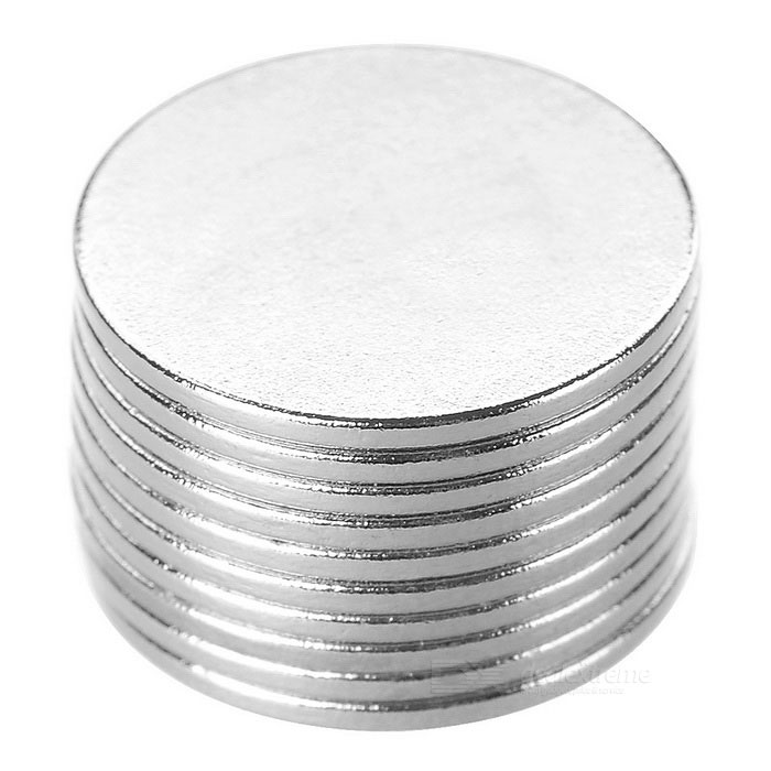 Super Strong Rare-Earth RE Magnets (15mm x 1mm / 10-Pack)