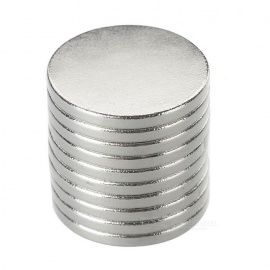 Super Strong Rare-Earth RE Magnets - Silver (18mm*2mm / 10PCS)