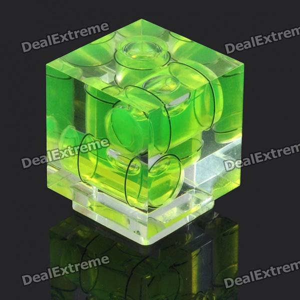 Triple 3 Axis Bubble Spirit Level on Camera Hot Shoe 3D - Green