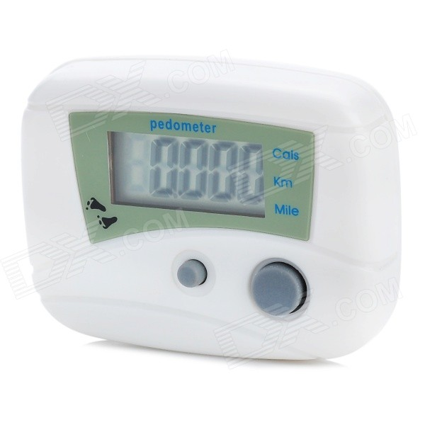 "1.0"" LCD Pedometer with Distance/Calories - White (1*LR1130)"