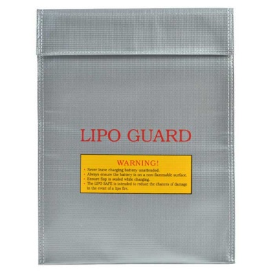 Fireproof LiPo Lithium Polymer Battery Safety Guard Bag - Silver Grey