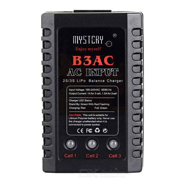 Buy B3AC 2S/3S Lipo Balance Charger - Black (AC 100~240V) with Litecoins with Free Shipping on Gipsybee.com