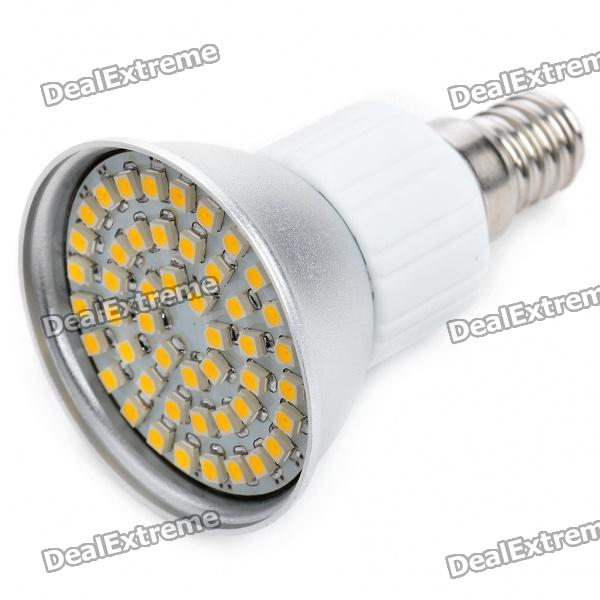 Buy E14 3.5W 195LM Warm White Light 48*SMD 3528 LED Cup Bulb (85~265 V) with Litecoins with Free Shipping on Gipsybee.com