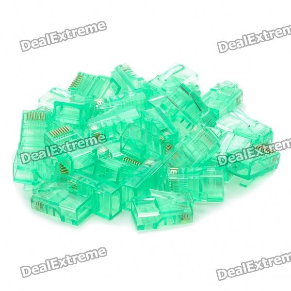 RJ45 8P8C Network Modular Plug Connector - Green (30 Piece Pack)Network Cables and Adapters<br>- Plug type: RJ45 8P8C (8 positions, 8 contacts)- Gold-plated leads for fast and accurate data transmission- Package includes: 30 connectors<br>