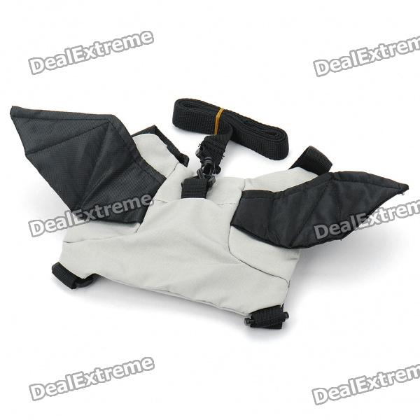 Buy Useful Bat Style Kids Safety Harness Backpack - Black + Grey with Litecoins with Free Shipping on Gipsybee.com