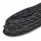 Reflective Multi-Purpose Paracord Nylon Rope Cord (Black)