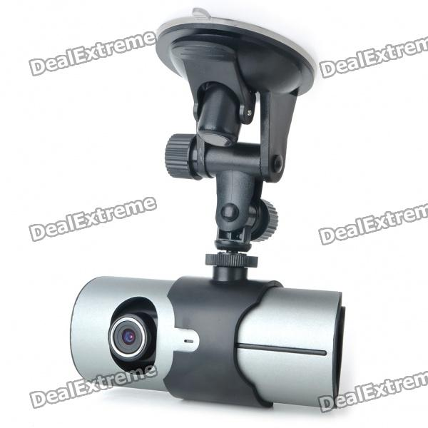 "3.0MP Dual Lens Wide Angle Car DVR Camcorder w/ GPS Logger/TF Slot (2.7"" LCD)"