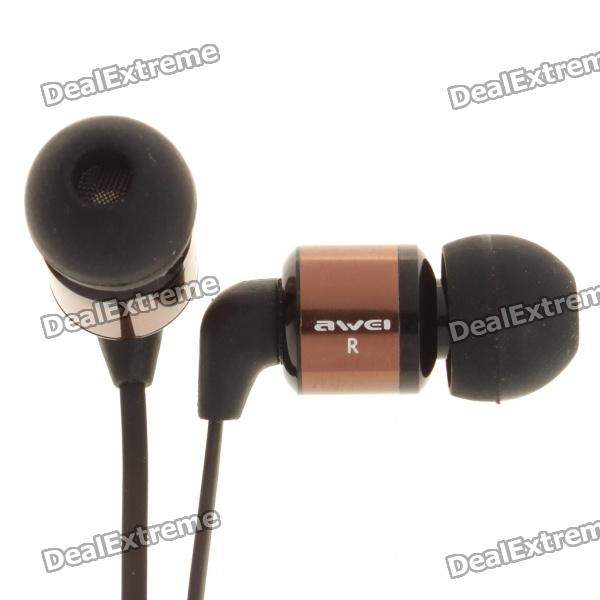 AWEI ES-600M Noise Isolating Hi-Definition In-Ear Earphone - Grey (3.5mm Audio Jack/1.2m-Cable)