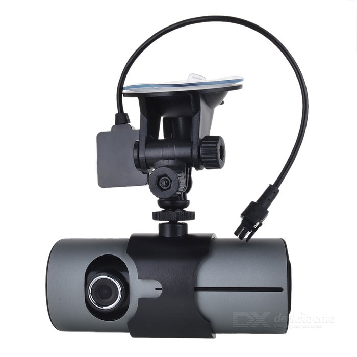 "720P 3.0MP Dual Lens Wide Angle Car DVR Camcorder w/ GPS Logger/TF Slot (2.7"" LCD)"