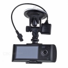 "720P 3.0MP Dual Lens Weitwinkel Auto DVR Camcorder w / GPS Logger / TF Slot (2,7 ""LCD)"