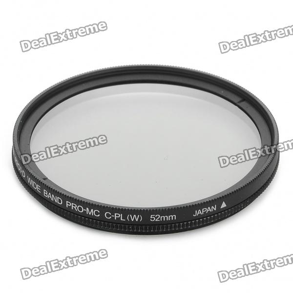 Nicna 52mm Slim Multi-Coated MC CPL Polarizing PL Filter - Black