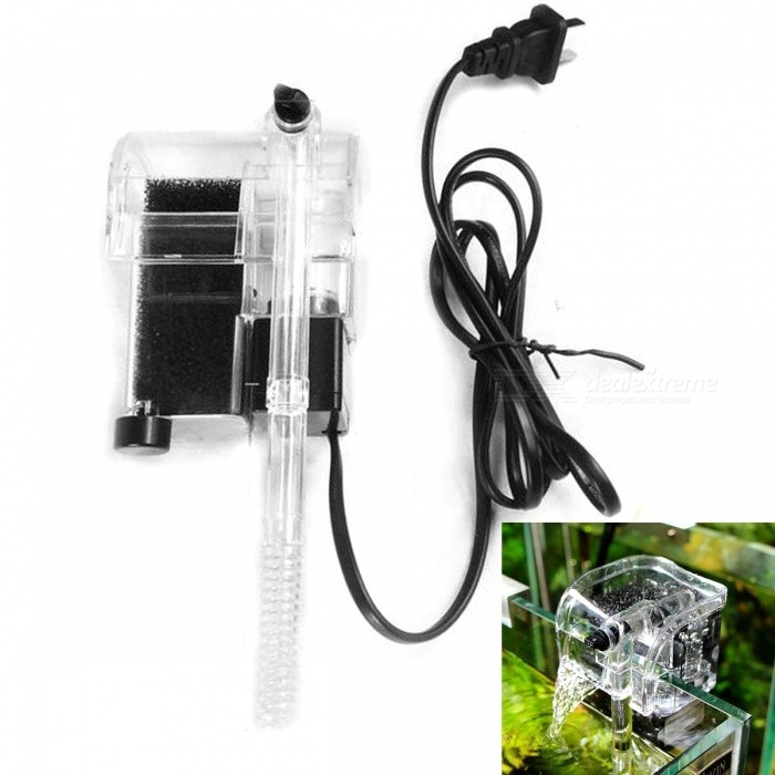 AC Powered Waterfall External Hanging Filter for AquariumPet Fish Zone<br>Model:Form  ColorWhitePower:Voltage:Packing List<br>