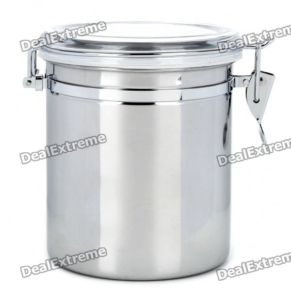 Stainless Steel Airtight Pot Fresh Food Storage Container Silver