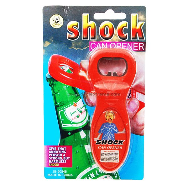 Buy Shock-Your-Friend Electric Shock Working Bottle Opening (Color Assorted) with Litecoins with Free Shipping on Gipsybee.com