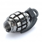 Cool Grenade Shaped Bicycle Bike Tyre Tire Valve Dust Cap Cover - Silver Grey (2 Piece Pack)