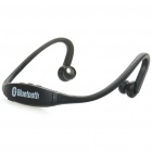 Rechargeable Sports Bluetooth V3.0 Headset w/ Microphone - Black (120 Minutes-Talk)