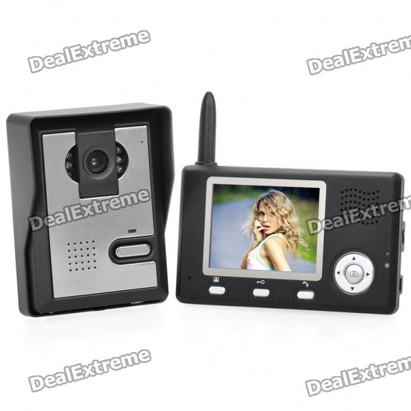 24GHz-35-TFT-LCD-Color-03MP-CMOS-Video-Door-Phone-with-6-LED-Night-Vision-Black-2b-Silver