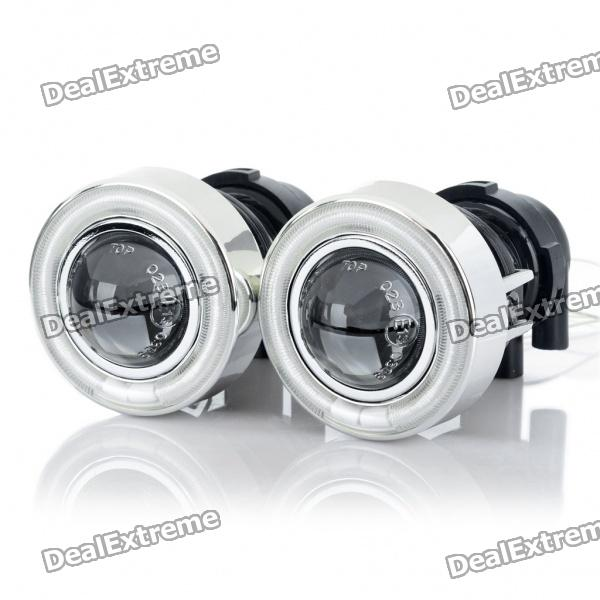 Ccfl 35w Hid Headlamps Car Angel Eyes Projector Fog Lamps Kit Pair