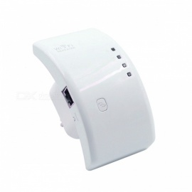 Portable-24GHz-80211bgn-300Mbps-Wireless-WiFi-Repeater-White