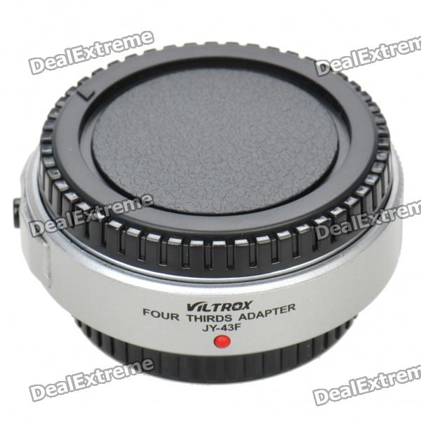 Auto Focus Olympus Micro 4/3 Lens to 4/3 Camera Lens Adapter- Silver + BlackLenses Accessories<br>Model:Form  ColorBlackPacking List<br>