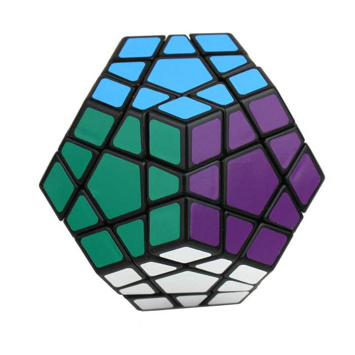 MF8 12-Color Megaminx IQ Magic Cube - Black Base