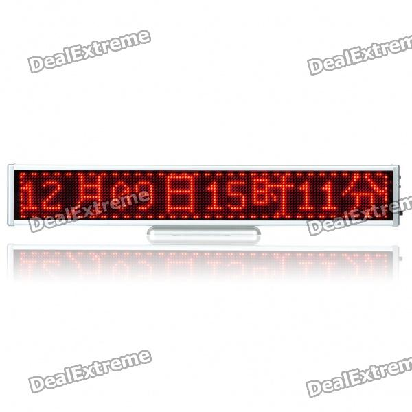 Rechargeable-131-16-x-128-Red-2048-LED-Wireless-Desktop-Display-Board-Silver