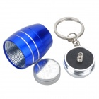 Water Resistant Mini 6-LED White Light Camping Flashlight Keychain - Blue + Silver (2 x CR2032)