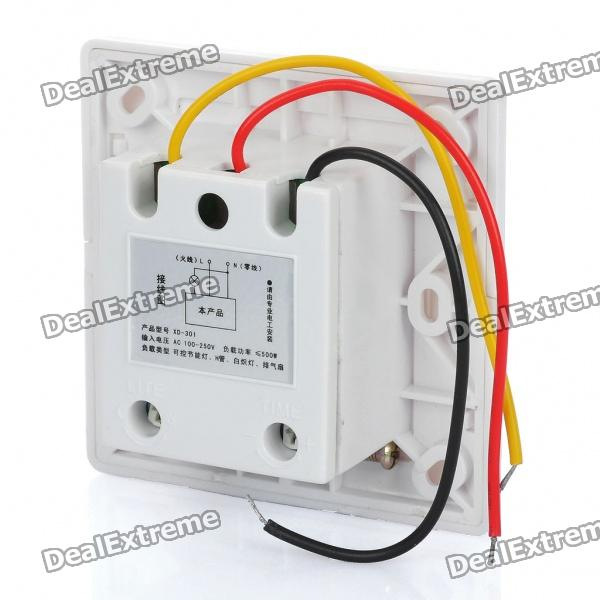 three-wire system wall mount automatic ir motion sensor light switch  (100~250v