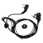 3.5mm + 2.5mm Walkie Talkie Handsfree Earphone and Microphone - Black
