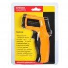 "1.2"" LCD Digital Infrared Thermometer - Yellow + Black"