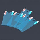 Glossy PCC Screen Guard / Protector w/ Cleaning Cloth for Iphone 4 /4S - Blue (5-Pack)