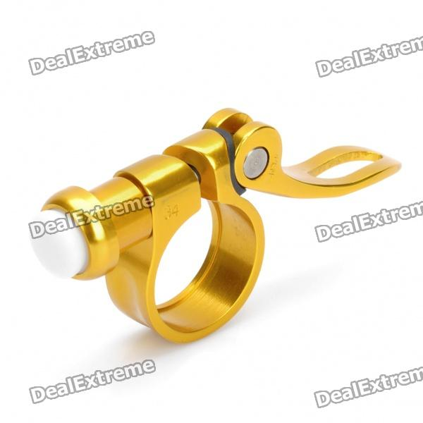 Aluminium Alloy 2-Mode Red LED Clamp Cycling Bicycle Bike Safety Warning Light - Gold (2 x AG10)