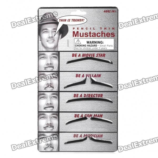 Stylish Costume Artificial Mustache - Black (5PCS)
