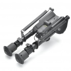 "6"" Retractable Aluminum Alloy BIPOD Rifle Stand for M4 - Black"