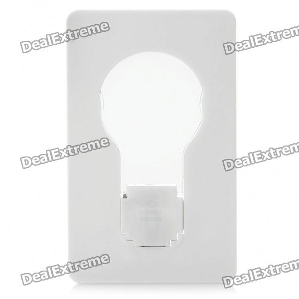 Unique Novelty Card Style LED Light Bulb - Yellow Light (1 x CR1220)