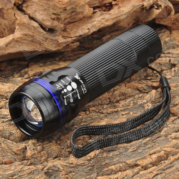 Zooming 350LM 1-LED 3-Mode Waterproof White Flashlight for Bicycle