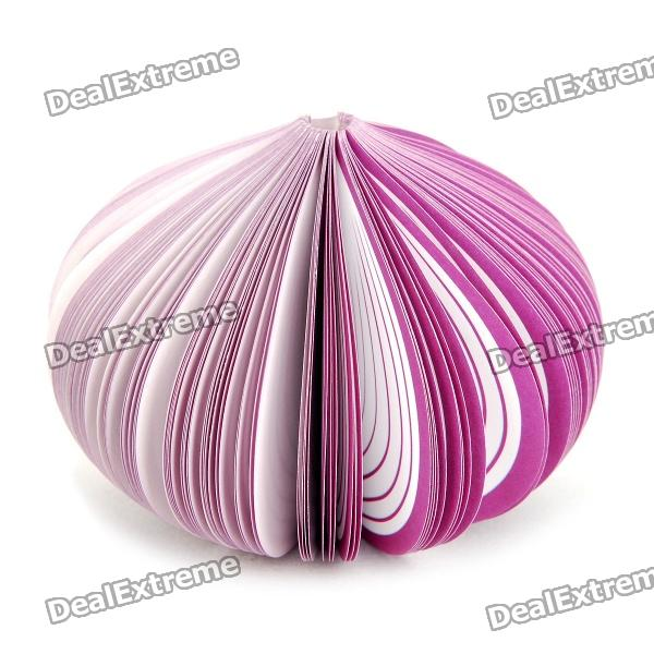 Buy Creative Onion Style Memo Pad (About 150-Page) with Litecoins with Free Shipping on Gipsybee.com