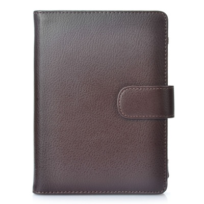 Protective PU Leather Case for Kindle Touch - Brown