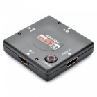 Mini 4-Port 1080P HDMI Switch (3-IN/1-OUT) - Black
